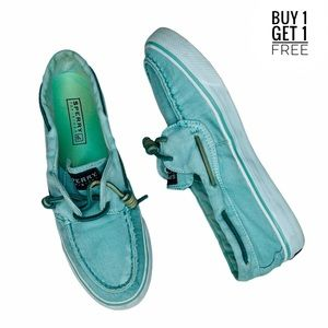Sperry Ladies Bahama Boat Shoe / Washed Mint 7